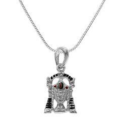ShalinIndia sterling-silver Pendant Hindu Charm Srinathji Avatar Krishna Necklace Chain for Unisex