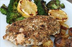 Sesame-Lemon Crusted Chicken: Nutty, with a burst of citrus, this crispy coating is perfect on chicken, is  easy to make, & with tasty ingredients you are sure to have on hand.