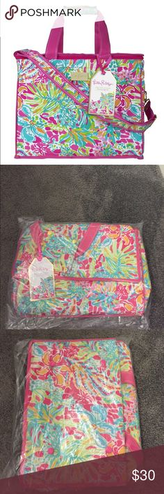 Lilly Pulitizer cooler!! Brand new! Lilly Pulitizer Brand New cooler featured in the pattern spot ya- in original packaging! Price listed or BEST OFFER! Lilly Pulitzer Bags Travel Bags