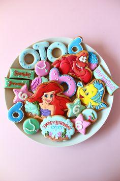 Ariel cookies Little mermaid cookies