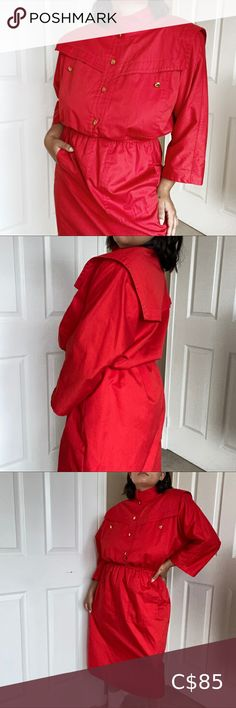 Vintage German 90's Midi Dress Perfect condition! Vintage Dresses Midi Denim Skater Dress, Floral Shirt Dress, Yellow Midi Dress, Vintage Party Dresses, Vintage Denim, Dress Size Chart Women, German, Skirts, Closet