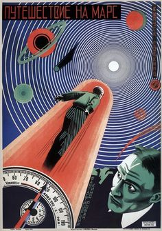 Soviet science fiction poster - Journey to Mars