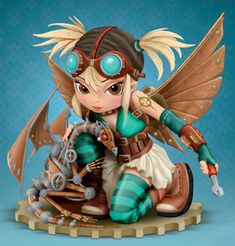 Mechanical Dragon Fairies - STATUE with Bradford Exchange - by Jasmine Ann Becket-Griffith from Steampunk Art Gallery Steampunk Kunst, Steampunk Fairy, Gothic Fairy, Fairy Statues, Fairy Figurines, Kobold, Fairy Pictures, Cute Fairy, Beautiful Fairies