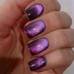 Masura magnetic nail polish. So cool!!! This is a video showing the final look. More
