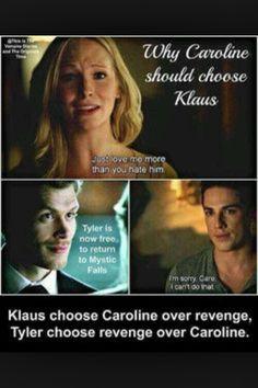 Why Caroline should pick Klaus