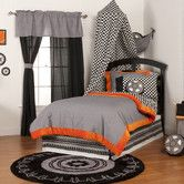 This would be too cute in Brayden's room. Found it at Wayfair - Teyo's Tires Bedding Collection