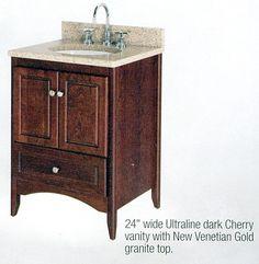 Decolav 24 Bathroom Vanity decolav 5645-cw haddington cherry bathroom vanity | bathroom