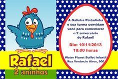 Arte Convite Galinha Pintadinha 004 | Andreza Design | Elo7