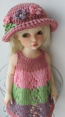 Hand Knit Outfit Set for 10'' Doll BJD Kaye Wiggs Helen Kish Iplehouse Effner | eBay