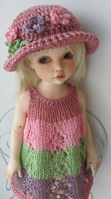 Hand Knit Outfit Set for 10'' Doll BJD Kaye Wiggs Helen Kish Iplehouse Effner | eBay