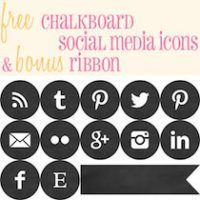 Free Chalkboard Social Media Icons