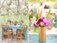 Touches of color in the garden - Happy weddings