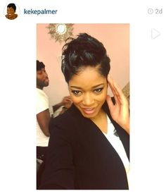 Keke Palmer. . Love the short hair on her!