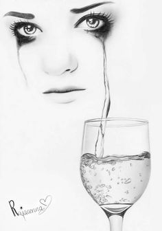 """""""I've swallowed down a hundred tears. Drinking the pain away."""""""