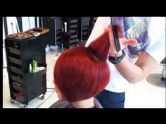 Kenneth Siu's Haircut - Hot Red Bob - YouTube