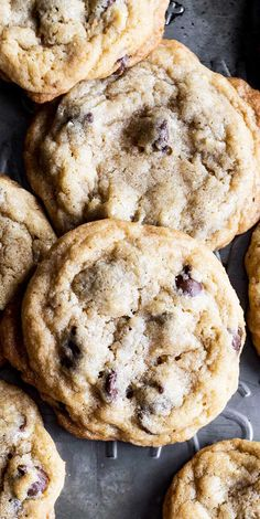 I LOVE these Chocolate Chip Cookies! You'll never guess the secret ingredient. Wonderfully sweet with a chewy texture with crispy edges. SO GOOD!