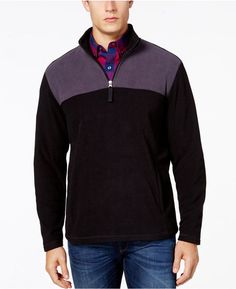 Club Room Mens Quarter-Zip Fleece Jacket
