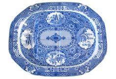 English Turkey Platter, C. 1820