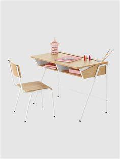 Moderner Kinder Schreibtisch EICHE/WEIß