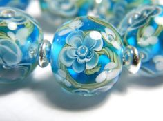 Handmade lampwork glass bead  Dipped in Ink  MADE TO by MyPrecious, €10.00