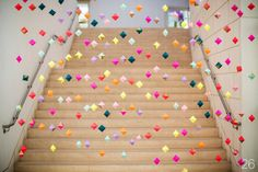 30 Amazing Geometric Wedding Ideas (via emmalinebride.com) - backdrop: french knot studios; photo: izzy hudgins photography