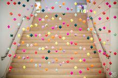 30 Amazing Geometric Wedding Ideas (via emmalinebride.com) - backdrop: french knot studios; photo: izzy hudgins photography