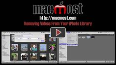 Removing videos from your iPhoto library tutorial. Very helpful! Free up space on your hard drive.