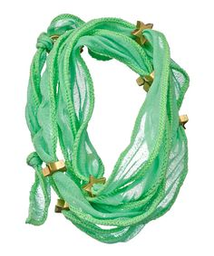 Mint Star Studded Wrap Bracelet