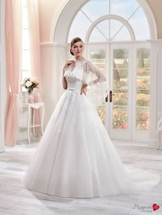 Robe de mariée Mlle Eva, robe de mariée féerique, robe de mariage bustier brodée…