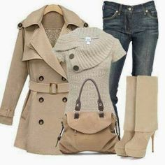 Autumn chic. #jacket #boots #fashion #jeans