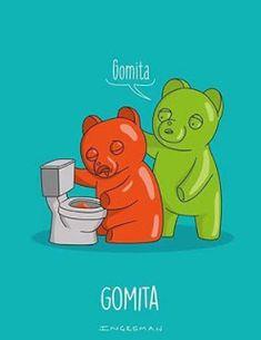 Gomita >. Absurdo Animales humor