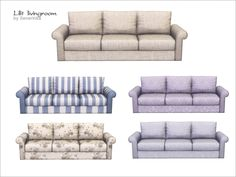 Sofa 3 seater of a set 'Lilit livingroom' Found in TSR Category 'Sims 4 Sofas & Recliners'