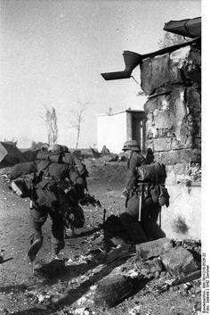 1942, Union Soviétique (Don-Stalingrad), Des fantassins allemands au combat