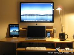 i-room full of Apple Products - This looks like my grandson's room!!