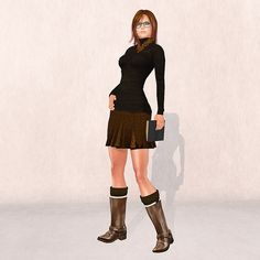 In Second Life, you can look good even when you're being a bluestocking.