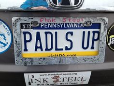 Paddles Up! Funny License Plates, Vanity License Plates, Licence Plates, Dude Where's My Car, Personalized Plates, Vanity Plate, Dragon Boat, Catapult, Funny Messages