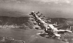 St. Thomas. 1940 - Marine Scouting Squadron (VMS-3) over Charlotte Amalie