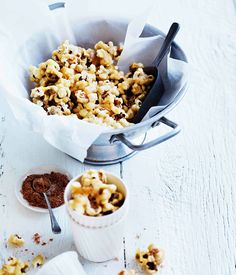 Spiced maple-caramel popcorn :: Gourmet Traveller Magazine Mobile
