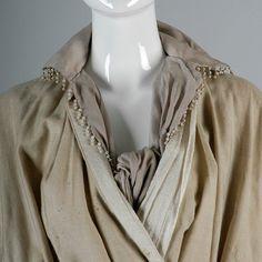 Edwardian Walking Coat 1910s Downton Abbey Antique Coat Silk   Etsy Silk Wool, Draped Fabric, Fringe Trim, Neck Scarves, Grosgrain, Fashion Outfits, Pure Products, Downton Abbey, Walking