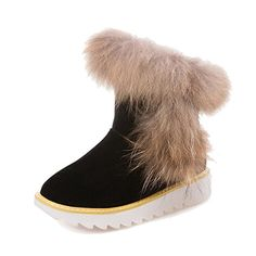 WeiPoot Womens Frosted Round Closed Toe Solid Lowtop LowHeels SnowBoots Black 39 * This is an Amazon Affiliate link. Details can be found by clicking on the image.