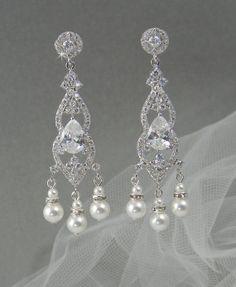 Crystal Bridal earrings  Wedding jewelry by CrystalAvenues on Etsy, $55.00