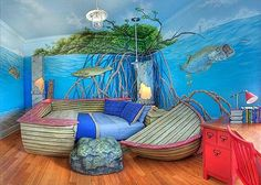 Kids bedroom Themes - 22 Awesome Themed Bedrooms That Every Kid Would Love Mermaid Bedding, Mermaid Bedroom, Kids Bedroom Designs, Kids Room Design, Bedroom Themes, Bedroom Decor, Bedroom Ideas, Master Bedroom, Lego Bedroom