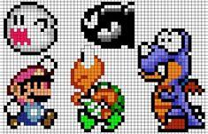 Mönster till Super Mario-pärlplattor