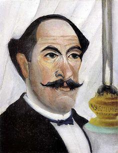 Henri Rousseau – Autorretrato do Artista com uma Luminária, 1903