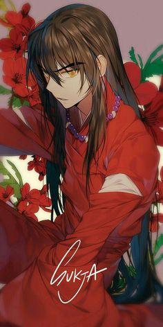 Inuyasha looks beautiful ❤ (not mine) , [post_tags Inuyasha Fan Art, Inuyasha And Sesshomaru, Kagome Higurashi, Kagome And Inuyasha, Inuyasha Memes, Inuyasha Funny, Anime Love, Anime Guys, Manga Anime