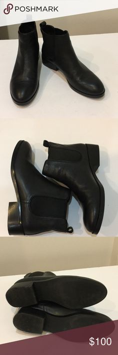 Cole Haan Chelsea boot Easy on and off. Leather. Only wore once. Chelsea boot. Almond toe Cole Haan Shoes Ankle Boots & Booties