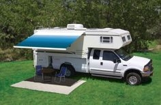 The Carefree Freedom Wall Mount Awning is a box awning that mounts to the side of your truck camper or RV. #LiveCarefree