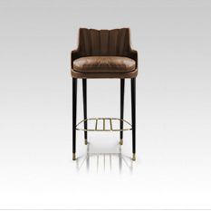 A unique design for a vintage or contemporary home interior. Contemporary Home Furniture, Luxury Furniture, Furniture Design, Bar Stool Chairs, Counter Stools, Dining Chairs, Dining Room, Designer Bar Stools, Restaurant Furniture