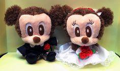 Tokyo Disneyland Mickey & Minnie Mouse Wedding Plush Set