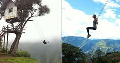 If you loved playgrounds as a kid then how about this for a swing? This extreme attraction is known as the 'Swing at the End of the World' and can be found at La Casa del Árbol (The Treehouse) in Baños, Ecuador.